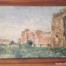 Arte: *TERMAS DE CARACALLA, ROMA * PINTOR VICENTE POVEDA Y JUAN,. Lote 171988198