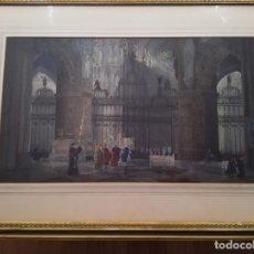 Arte: CATEDRAL DE BURGOS. PILFORD FLETCHER WATSON, 1900 DESTACADO ACUARELISTA DE ORIGEN INGLÉS. Lote 172128949