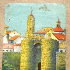 Arte: M.CASTRO USÓN. DIBUJO ACUARELA. PUEBLO ESPAÑOL. BARCELONA. FIRMADO A MANO.. Lote 172702369