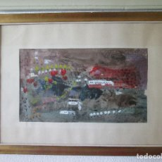 Arte: ACUARELA SOBRE PAPEL - PINTOR DE MALAGA - 58X79 - ENMARCADO FIRMADO - DIBUJO 30X53. Lote 172853077