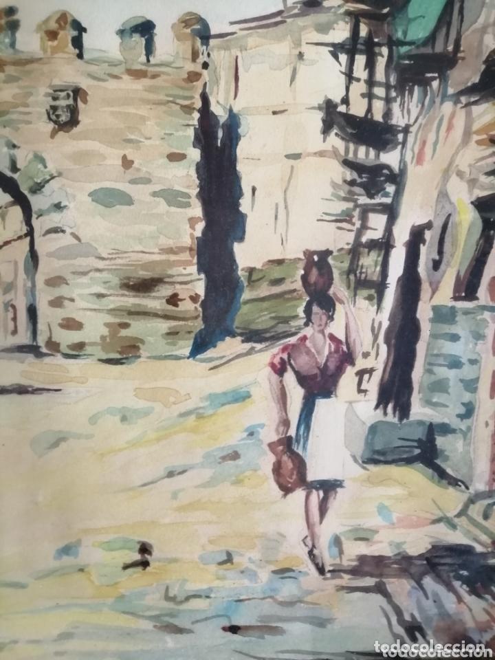 Arte: E. Tojal. Acuarela de 1964. - Foto 2 - 173230088