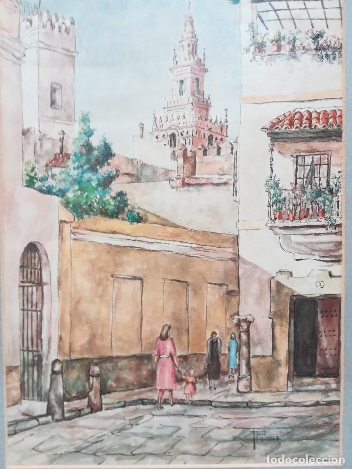 Arte: Calles de Sevilla, esta firmada , - Foto 2 - 173384680