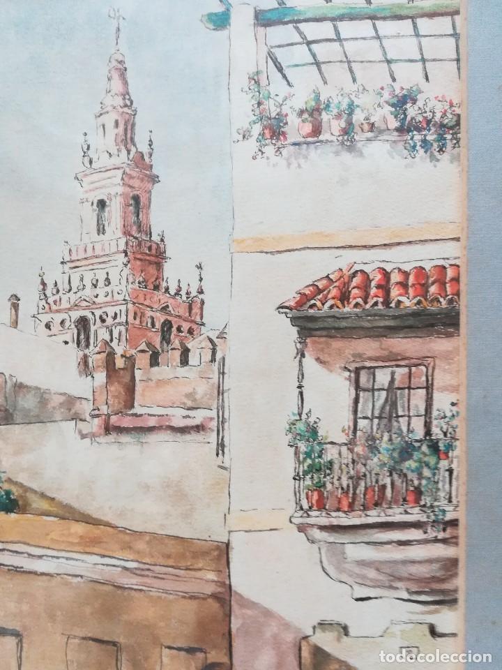 Arte: Calles de Sevilla, esta firmada , - Foto 3 - 173384680
