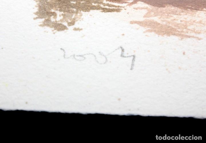 Arte: JAVIER MONTESOL (Barcelona, 1952) ACUARELA SOBRE PAPEL FECHADA DEL AÑO 2004.VISTA URBANA. 34 X 50 CM - Foto 4 - 173516957