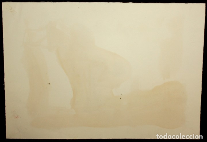 Arte: JAVIER MONTESOL (Barcelona, 1952) ACUARELA SOBRE PAPEL FECHADA DEL AÑO 2004.VISTA URBANA. 34 X 50 CM - Foto 6 - 173516957