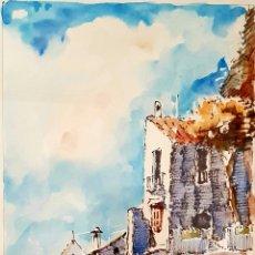 Arte: MARTÍN OCAÑA, PRECIOSA ACUARELA VINTAGE DE TORREMOLINOS, FIRMADA.. Lote 173522853