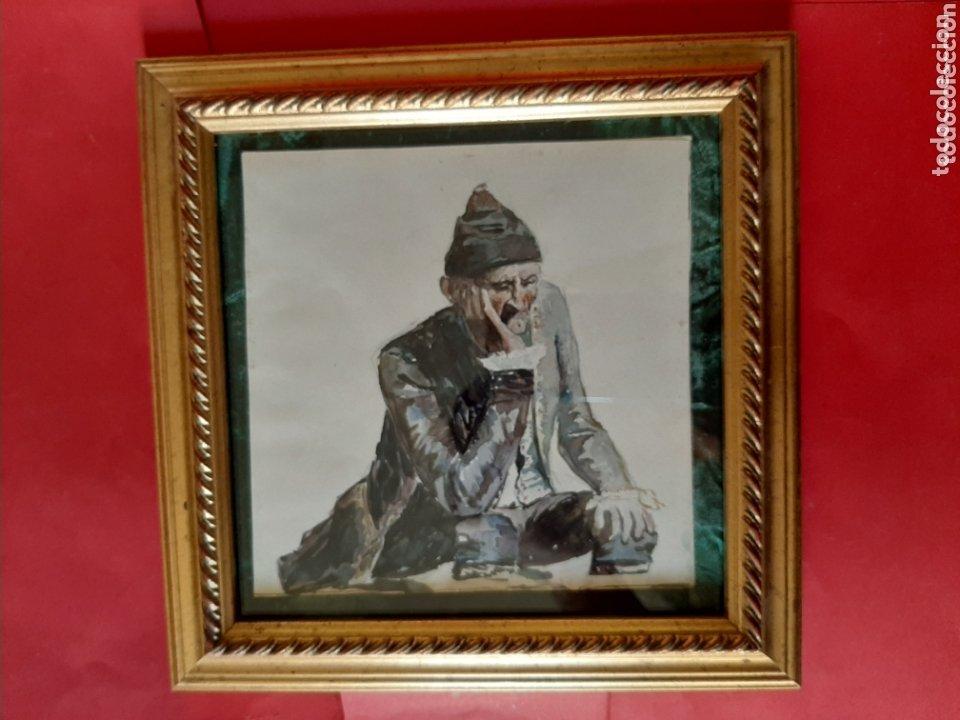 ACADEMIA, ACUARELA. ALBERTO MACIAS PICAVEA, VALLADOLID (1865-1947). FIRMADA AL DORSO. (Arte - Acuarelas - Modernas siglo XIX)