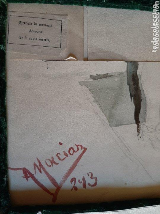 Arte: ACADEMIA, ACUARELA. ALBERTO MACIAS PICAVEA, VALLADOLID (1865-1947). FIRMADA AL DORSO. - Foto 4 - 173588833