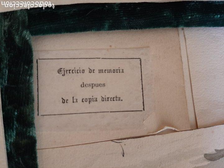Arte: ACADEMIA, ACUARELA. ALBERTO MACIAS PICAVEA, VALLADOLID (1865-1947). FIRMADA AL DORSO. - Foto 5 - 173588833