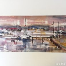 Arte: VICENS GINJAUME. ACUARELA . TOSSA DE MAR. Lote 173636107