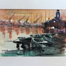 Arte: VICENS GINJAUME. ACUARELA. . Lote 173661148