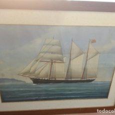 Arte: MARINA A LA ACUARELA PINTOR G.ROBERTO GENOVA.FECHADO EN 1919.. Lote 173877984