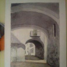 Arte: RODRIGUEZ PESCADOR CADAQUES GERONA ACUARELA. Lote 173958974
