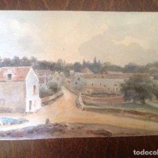 Arte: ARTURO MENOCAL. VISTA DE UN PUEBLO.. Lote 174351519