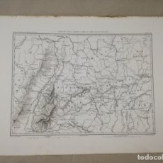 Arte: CARTE DU PAYS COMPRIS ENTRE LE RHIN ET LE DANUBE.1845-1862.POR M.THIERS.. Lote 174400430