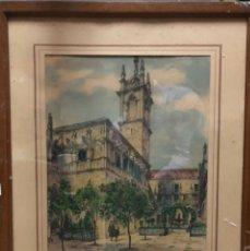 Arte: ANTIGÜA Y BONITA ACUARELA , PATIO DE LOS NARANJOS , SEVILLA ESPAÑA. Lote 174405569