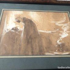Arte: MARIANO BERTUCHI NIETO. ARTE GRANADINO. ORIENTALISMO. MARRUECOS. ACUARELA. GOUACHE.. Lote 174457615