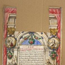 Art: DIBUJO ACUARELADO CON ESCENAS RELIGIOSAS. GRAN DETALLE. SIGLO XVIII. Lote 174579265