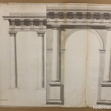 Arte: ACUARELA ORIGINAL ARQUITECTURA. S. XVIII. Lote 174579660