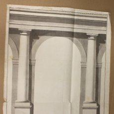 Arte: ACUARELA ORIGINAL ARQUITECTURA. S. XVIII. Lote 174579762