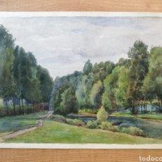 Arte: ACUARELA FIRMADA POR EDOUARD LEVÈVRE 1842-1923. Lote 174965475