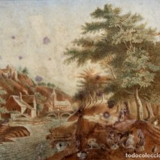 Arte: ESCUELA HOLANDESA DE AUTOR ANONIMO. ACUARELA SOBRE PAPEL DE PRINCIPIOS DEL SIGLO XIX. Lote 175118967
