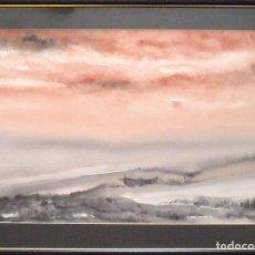 Arte: XAVIER UBACH. ACUARELA LA VIEJA BARCA. FIRMADA A MANO. EMMARCADA. 50X67 CM. BUEN ESTADO.. Lote 175199413
