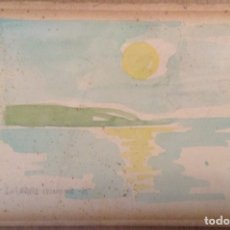 Arte: JOSEP SERRA LLIMONA ACUARELA ORIGINAL FIRMADA Y FECHADA EN 1975. Lote 175275300