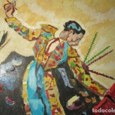 Arte: TAUROMAQUIA PINTURA ANTIGUA IMPRESIONISTA OLEO AÑOS 50 TORERO AUTOR DESCONOCIDO. Lote 175309137