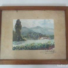 Arte: ACUARELA - PAISAJE - FIRMA CORREDE. Lote 175668627