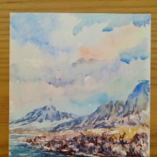 Arte: ACUARELA PINTADA EN UNA HOJA DE RUIZ ALBA - LAGO (1). Lote 175724000