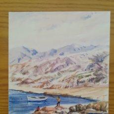 Arte: ACUARELA PINTADA EN UNA HOJA DE RUIZ ALBA - LAGO (2). Lote 175724119