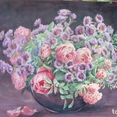 Arte: FLORES-ACUARELA-. Lote 175823642