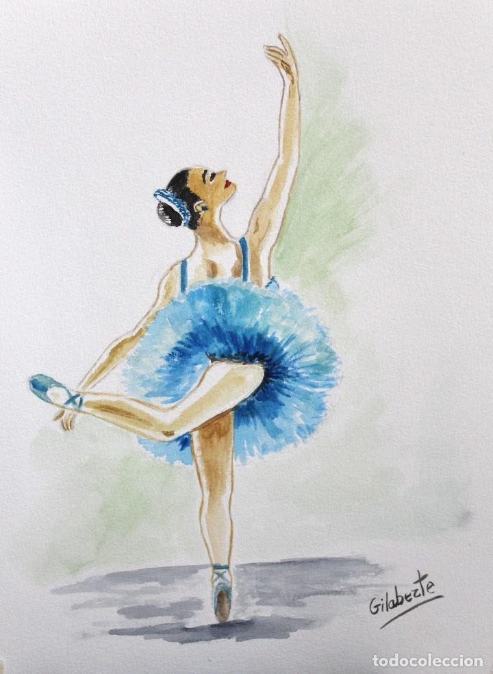 Arte: Bailarina azul obra de Gilaberte - Foto 2 - 175964357