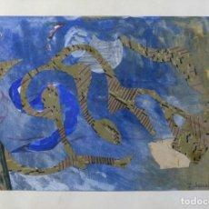 Arte: ISABEL SERRAHIMA (1934-1999) COLLAGE SOBRE PAPEL COMPOSICIÓN FIRMADA . Lote 175991194