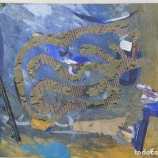 Arte: ISABEL SERRAHIMA (1934-1999) COLLAGE SOBRE PAPEL COMPOSICIÓN FIRMADA . Lote 175991199