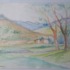 Arte: FEDERICO FISAS - JOAN FREDERIC FISAS MULLERAS - PAISAJE. Lote 176016100