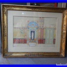 Arte: CUADRO NEOCLASICO TECNICA GOUACHE ACUARELA S. XIX. Lote 176205012