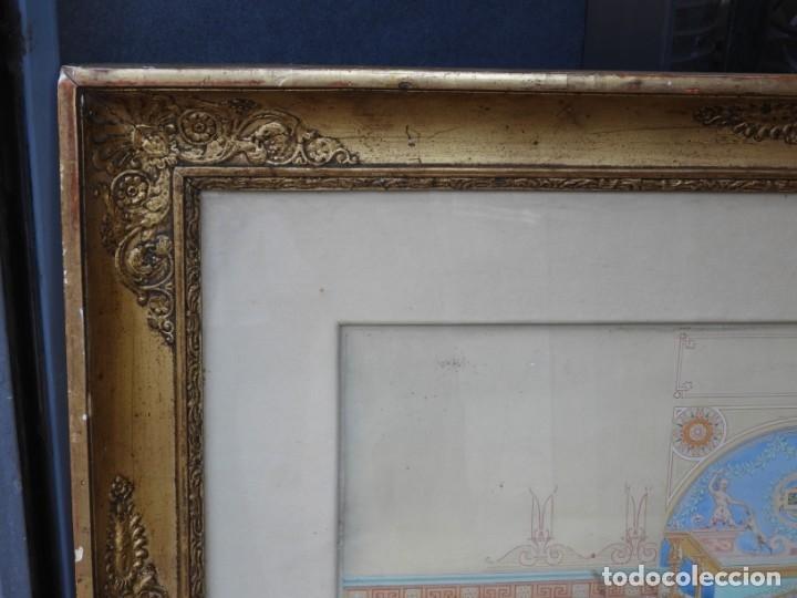 Arte: CUADRO NEOCLASICO TECNICA GOUACHE ACUARELA S. XIX - Foto 3 - 176205012