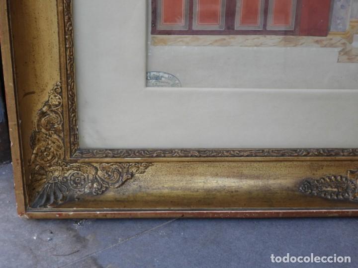 Arte: CUADRO NEOCLASICO TECNICA GOUACHE ACUARELA S. XIX - Foto 4 - 176205012