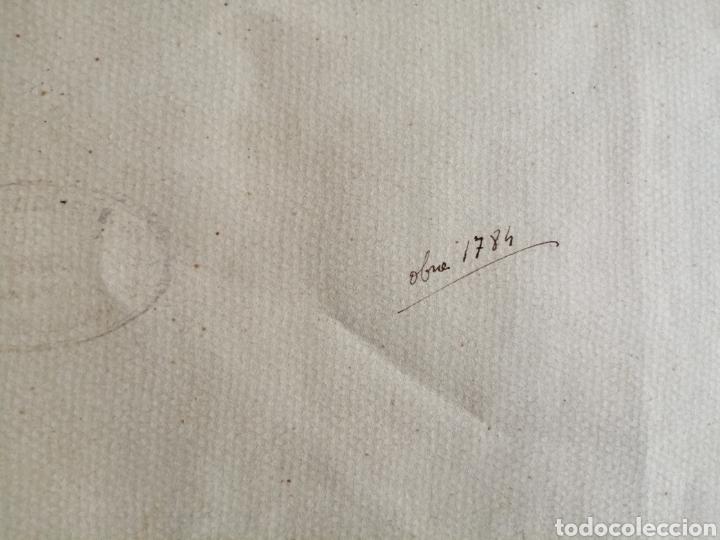 Arte: Extraordinaria tempera y acuarela sobre cartón. Proyecto para vidriera. - Foto 14 - 176414278