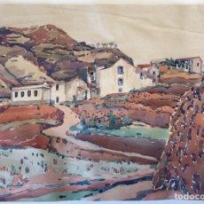 """Arte: ACUARELA MANOLO MILLARES. 49 X 36 CM. FIRMADA Y TITULADA """"TEROR"""".. Lote 156586052"""