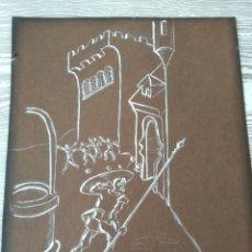 Arte: LA PINTURA DE DON QUIJOTE DE LA MANCHA DE 1860. Lote 176587113