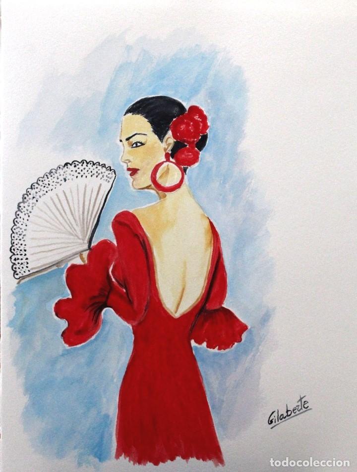 ANDALUZA OBRA DE GILABERTE (Arte - Acuarelas - Contemporáneas siglo XX)