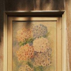 Arte: LEO KURPERSHOEK (1885-1970) ACUARELA, FLORERO. 38X30CM ENMARCADO. Lote 176842165