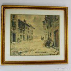 Arte: B-868. ACUARELA SOBRE PAPEL, PAISAJE. FIRMADA F.LLEONART AÑO 1950. . Lote 176902954
