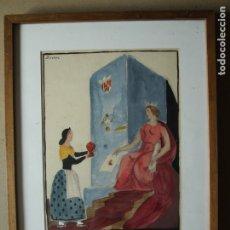 Arte: D'IVORI. JOAN VILA I PUJOL - FANTÁSTICA ACUARELA EN COLOR. FIRMADA D'IVORI. Lote 176922840