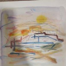 Arte: ACUARELA SOBRE PAPEL, PINTURA ABSTRACTA, AÑOS 70, BUENA CALIDAD, SIN FIRMAR. 37X31CM ABSTRACCION. Lote 177075167