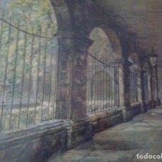 Arte: ACUARELA CLAUSTRO PARLAMENTO LONDRES1890 - 50% DESCUENTO HASTA EL 29 DE FEBRERO. Lote 177208227