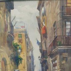 Arte: ACUARELA MARIANO BRUNET. Lote 177272584